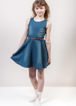 Джинсовое платье на девочку fox израиль