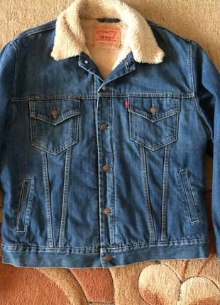 Куртка levi's, levis sherpa  (джинсовая куртка на меху, на овчине)