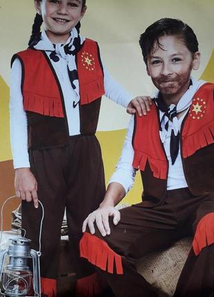 Crane германия карнавальный костюм ковбоя девочке мальчику 3 6 лет