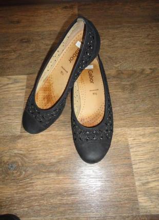 Женские туфли, балетки gabor. кожа. размер 38.5 стелька-25 см