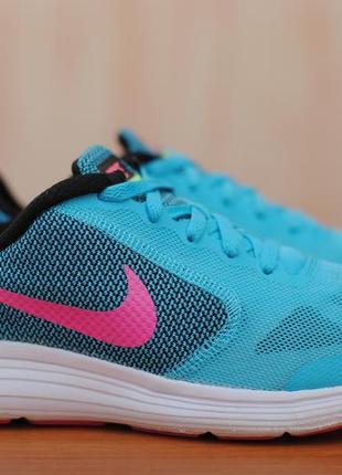 Голубые женские беговые кроссовки nike revolution 3. 38 размер. оригинал