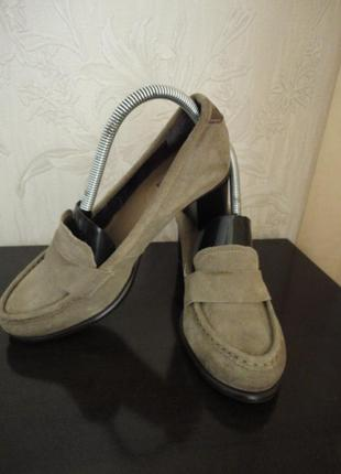 Женские туфли mexx размер 39, стелька 25 см, натуральная замша
