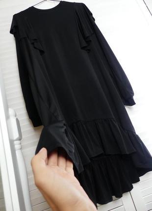 Невероятное асимметричное свободное платье с рюшами sisters point (l и больше  см.замеры)