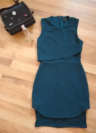 Короткое вечернее легкое платье от topshop