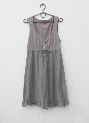 Летнее легкое платье из хлопка и шелка