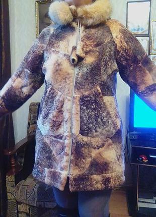 Шуба,шубка,полушубок,куртка натуральная-мутон,46р.