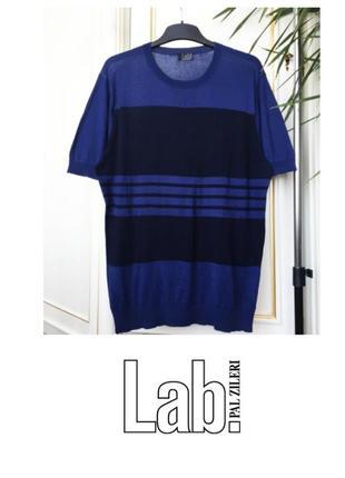 Lab pal zileri футболка хлопковая р54 синяя в черную полоску