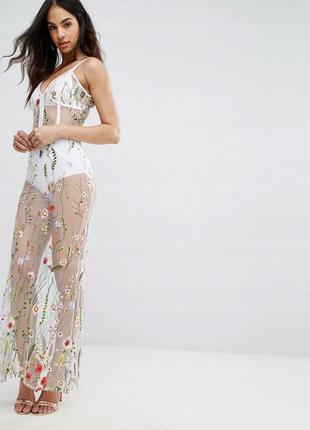 Модна квіткова сукня boohoo