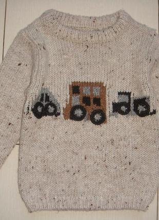 Теплый свитер 12-18мес