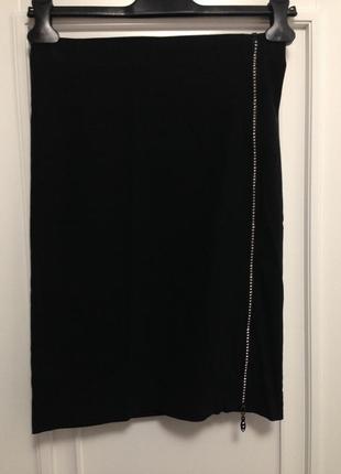 Необычная юбка карандаш застежка молния с камнями от miss selfridge