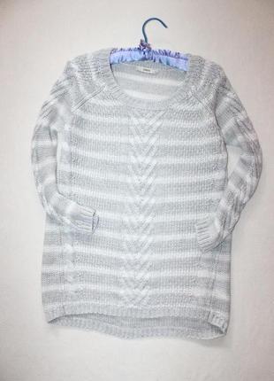 Удлинённый свободный свитерок фактурной вязки oasis