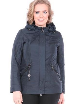 5543a4b51cbd8 Женская демисезонная куртка больших размеров, батал mishele осень весна 56,  58, 60,