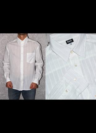 Белоснежная рубашка dolce & gabbana