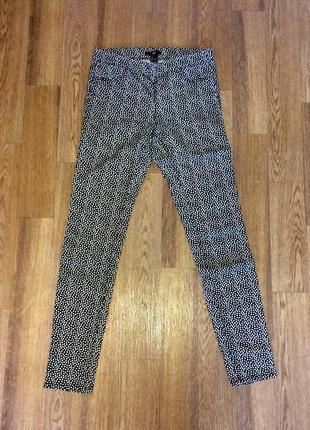 Джеггинсы (джинсы леггинсы) в горошек h&m, новые, размер м