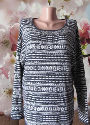 Красивый теплый тонкий свитерок(пог55см+).