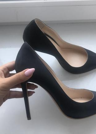Туфли лодочки, на каблуке