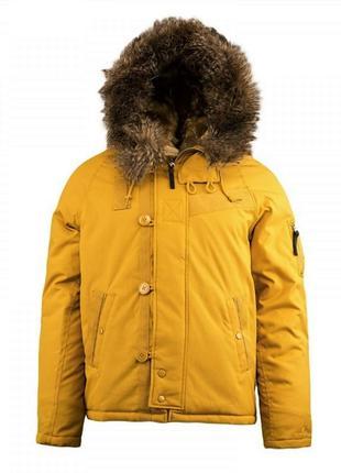 Мужская парка куртка alpha industries n-2b 01n tumbleweed/blue s, m, l, xl,xxl,xxxl {usa}