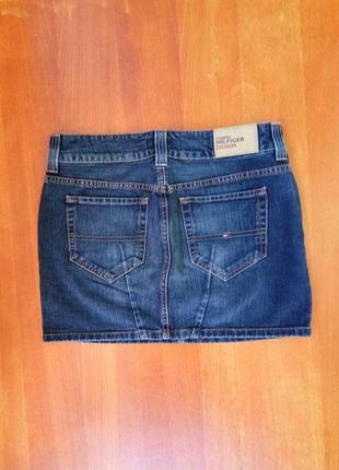 Джинсовая юбка мини  с потертостями tommi hilfiger5
