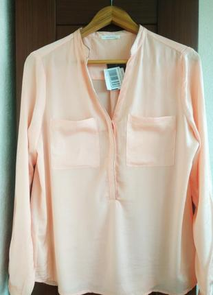 Блуза promod нежно-персикового цвета.