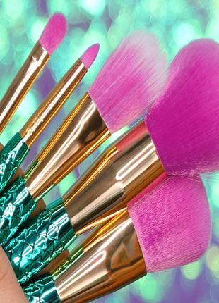 Набор кистей tarte minutes to mermaid brush set ( 5 штук)