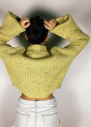 Шикарный объемный свитер крупной вязки