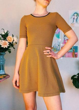 Красивое  трикотажное платье divided by h&m.