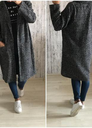 Пальто бойфренд f&f размер 12