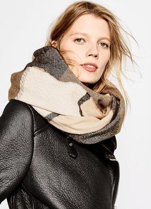 Объемный мягкий шарф zara