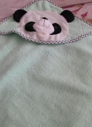 Полотенце для малышат панда+в подарок новый комплект(ползуны и распашонка)
