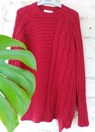 Ассиметричный крупной вязки свитер mango