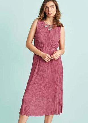 Плессированное платье миди/ платье миди плиссе