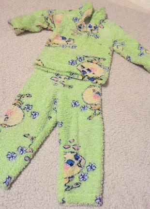 Теплая, махровая пижама