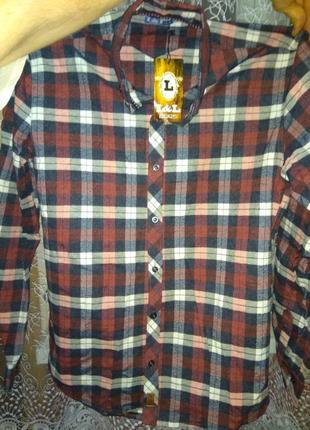 Чоловіча сорочка в клітинку(рубашка в клеточку)
