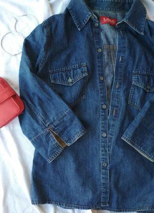 Стильная джинсовая  рубашка h&m