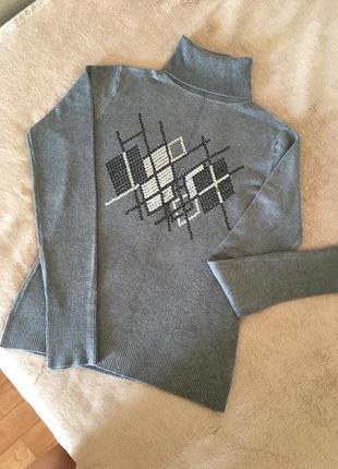 Гольф/свитер серый s/m