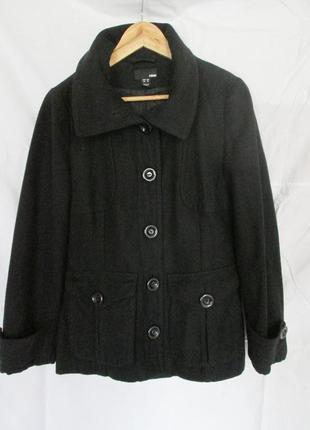 Пальто черное демисезонное h&m