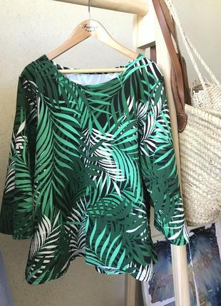 Блуза h&m, принт - пальмы.