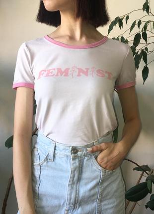 Кроп топ футболка с надписью