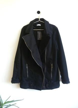 Шикарная удлиненная косуха, классная куртка авиатор