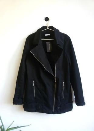 Новая тонкая косуха удлиненная куртка авиатор