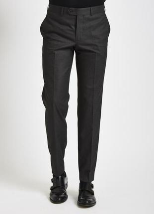 Брюки штаны офисные деловые черно-серые w36 на рост 170см