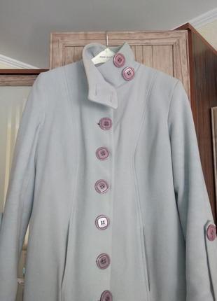 Кашемірове пальто з натуральною овчиною