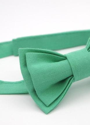 Краватка-метелик м'ятного кольору 1-4 роки