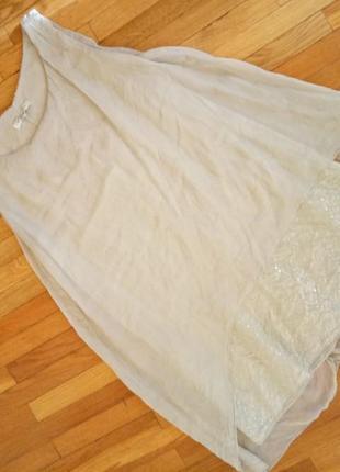 Дeшeво італійська 100%шовк блуза на підкл.(віскоза) collezione gala m(36)p.