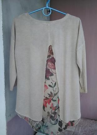 Очень красивая блузка с интересной спинкой