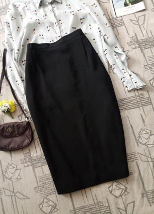 Классическая юбка карандаш миди,размер 16-18