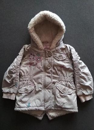 Демисезонная парка. деми куртка для девочки. парка.  вышивка