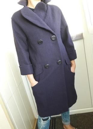 Стильное пальто бойфренд от испанского люксового бренда hoss intropia.s-m.хлопок/шерсть.