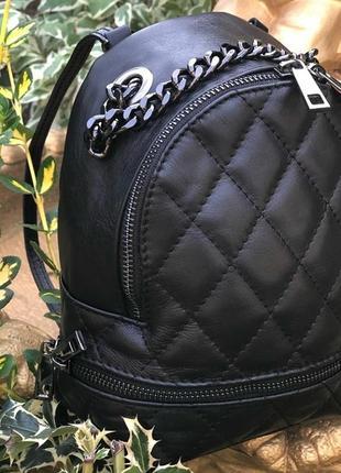 Маленький кожаный рюкзак (италия)