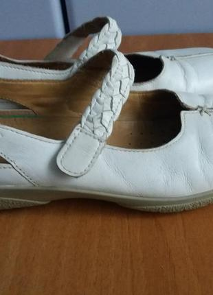 Туфельки - мокасины hotter натуральная кожа 37,5 размер
